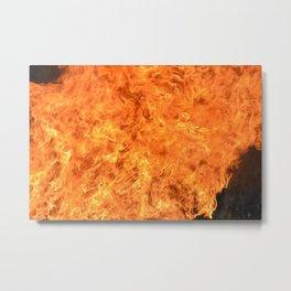 fire wall Metal Print