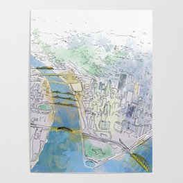 Pittsburgh Aerial Poster