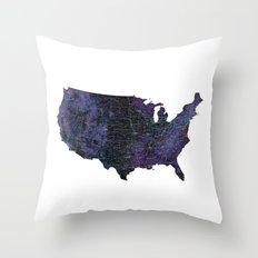 United States Map Throw Pillow
