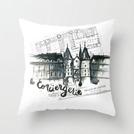 La Conciergerie - Paris Throw Pillow
