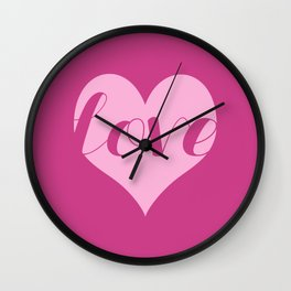 Love in a heart  Wall Clock