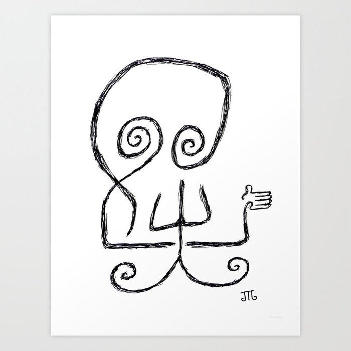 """Death Hates Goodbyes"" (White) Art Print"