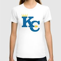 kansas city T-shirts featuring Kansas City Sports Blue by Haley Jo Phoenix