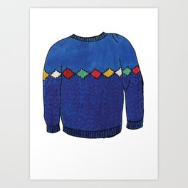 Season 2, Episode 11 (full sweater) Art Print