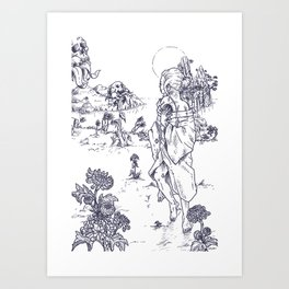 Herbology of fear. Planting Art Print