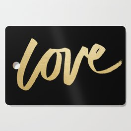 Love Gold Black Type Cutting Board