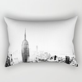 Steam - Fog over New York City Rectangular Pillow