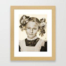 Childhood Pets Framed Art Print