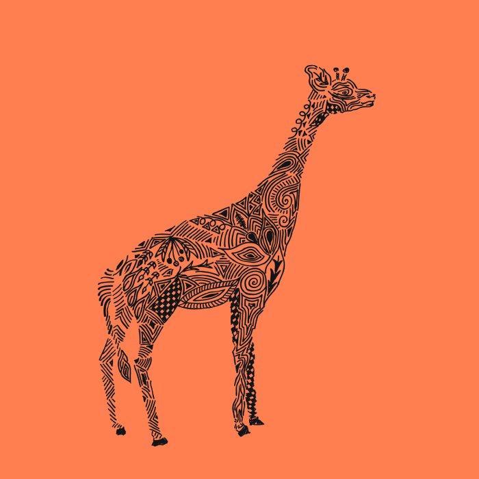 Designer Giraffe Coral Comforters