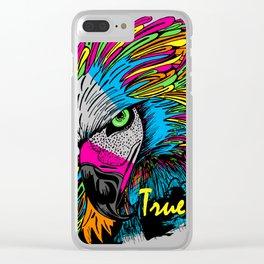 Rainbow Hawk Clear iPhone Case