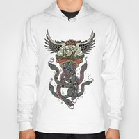 cthulu Hoodies featuring In To The Blue by Mark R. Skipper