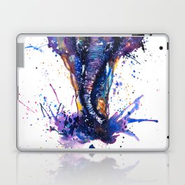 Watercolor Elephant Om Yoga Splatters Laptop & iPad Skin