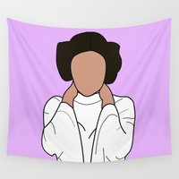 leia Wall Tapestries featuring Princess Leia by Blancamccord