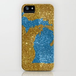 Michigan glitter iPhone Case