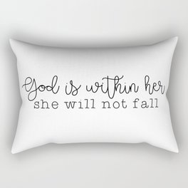 God Is Within Her Rectangular Pillow