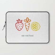 Eat Real Food. (light) Laptop Sleeve