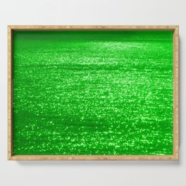 Sparkling Green Water Serving Tray