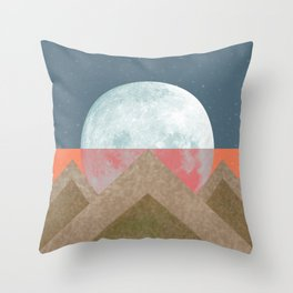 MOON BEHIND THE MOUNTAINS Throw Pillow