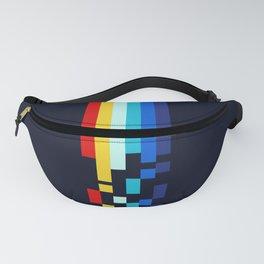 Classic 80s Video Game Retro Stripes Pixel Drops - Ayakazu Fanny Pack