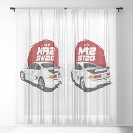 MR2 SW20 White Sheer Curtain