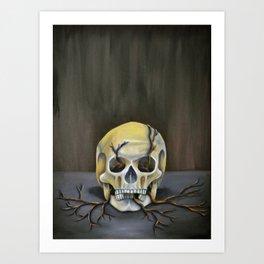 Skull Still Life Art Print