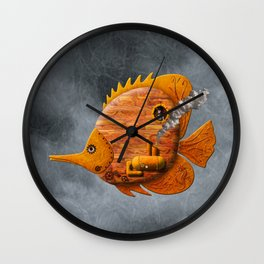 Steampunk Butterflyfish II Wall Clock