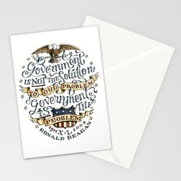 small government, larger freedom Stationery Cards