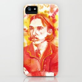 ROBERT LOUIS STEVENSON - watercolor portrait.2 iPhone Case