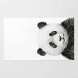 Baby Panda Whimsical Animal Watercolor Cute Baby Animals Rug