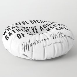 84  |  Marianne Williamson Quotes | 190812 Floor Pillow