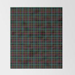 Red and green plaid Throw Blanket