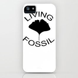 Ginkgo leaf. Living fossil iPhone Case