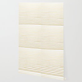 Gold Paris Stripe Pattern Wallpaper