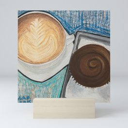 Cupcake and Coffee Mini Art Print