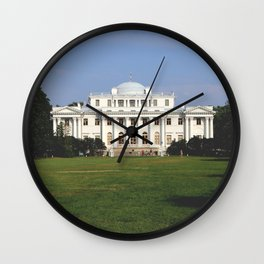 Facade of a Elaginostrovsky Palace Museum Wall Clock