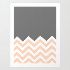 Color Blocked Chevron 12 Art Print