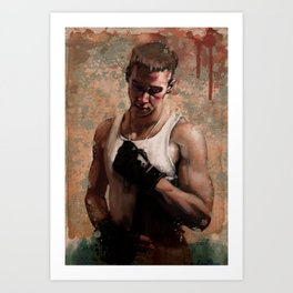 ...and so he fights Art Print