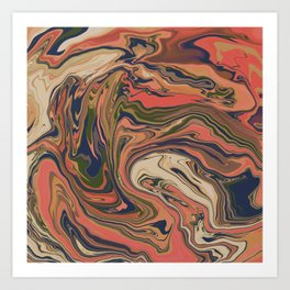 marbled / no.33 Art Print