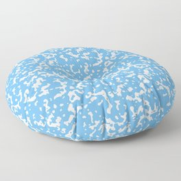 Blue and White Composition Notebook Floor Pillow