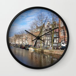 Amsterdam canal 3 Wall Clock