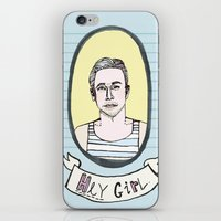 ryan gosling iPhone & iPod Skins featuring Ryan Gosling by EmilyScribbles