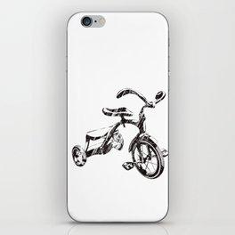 Ride Hard Vintage Tricycle Pedal Power Kids Retro Trike iPhone Skin