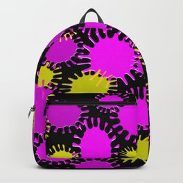 Fun Magenta & Yellow Splotch Pattern Backpack