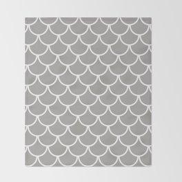Grey Fish Scales Pattern Throw Blanket