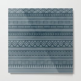 Ethnic indian pattern. Metal Print