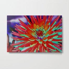 Solarized Dahlia Metal Print