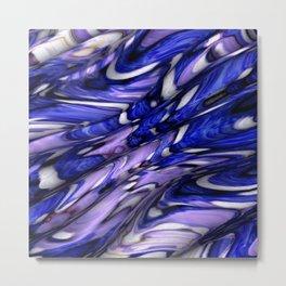 Blue Macula Metal Print