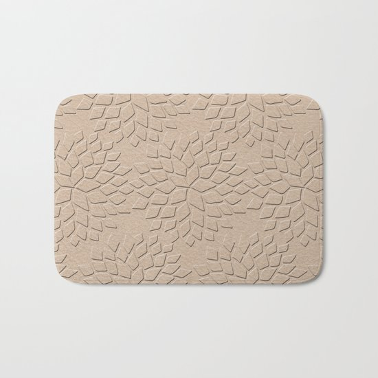 Leather Look Petal Pattern - Pale Dogwood Color Bath Mat