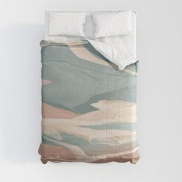 Calming Waves Modern Abstract  Comforters