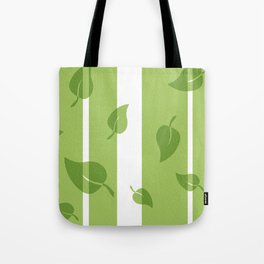 Scattered Green Leaves Tote Bag